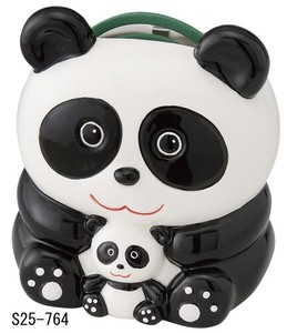 Japanese summer features Ornament Interior Panda Bear Parent And Child Mosquito Coil Stand