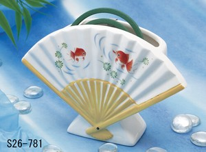 Japanese summer features Ornament Interior Folding Fan Mosquito Coil Stand Goldfish