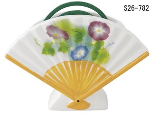 Japanese summer features Ornament Interior Folding Fan Mosquito Coil Stand Morning Glory