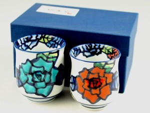 Hand-Painted rose Japanese Tea Cup Couple Japanese Tea Cup