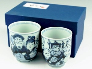 Seven Deities Of Good Luck Japanese Tea Cup Couple Japanese Tea Cup