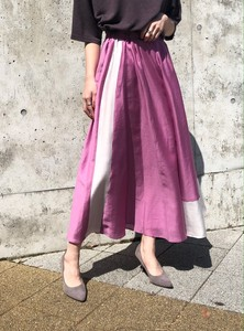 Gloss Elegance Color Scheme Flare Long Skirt
