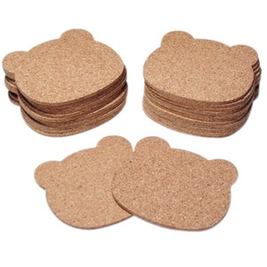 Cork Coaster Bear 3.5 50 Pcs Set