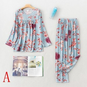 Pajama Long Sleeve Pants Set Indoor Pajama