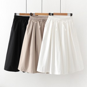 Plain Pleats Skirt Pants
