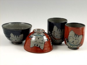 Cat Japanese Rice Bowl Japanese Tea Cup