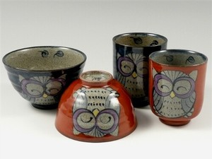 Owl Japanese Rice Bowl Japanese Tea Cup