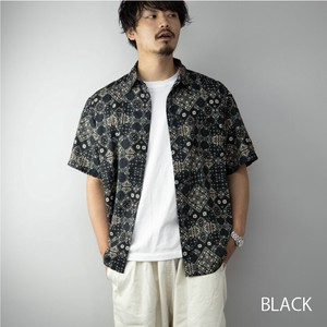 [ 2020NewItem ] Shirt Men's Short Sleeve Print Big Silhouette Shirt Over Shirt Big Shirt