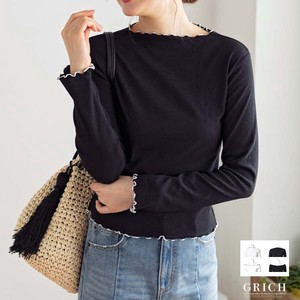 Top Cut And Sewn Mellow Off-Shoulder boat Neck A/W