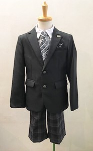Admission Boy Checkered Pattern Pants Blazer Suit Set