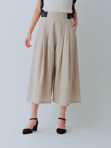 Stripe Waist Tuck Flare Pants