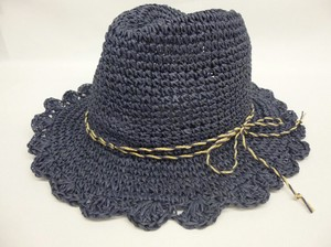S/S Hand Knitting Frill Attached Felt Hat Hat