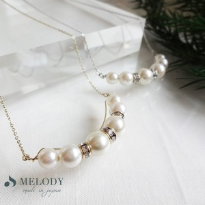 Metal Pearl Round Long Necklace