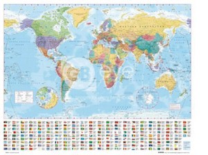 Mini Poster World Map