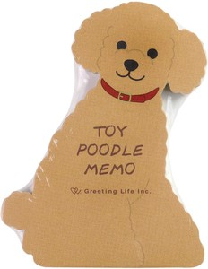 Animal Memo Pad Toy Poodle