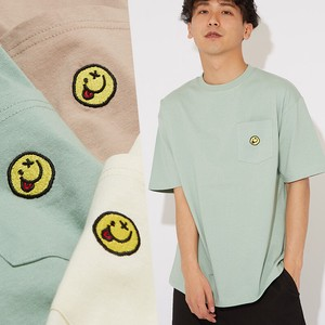 S/S Embroidery Unisex Pocket Big Short Sleeve T-shirt