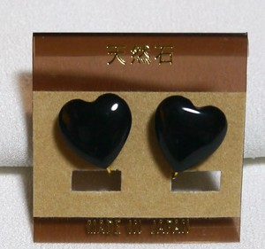 Natural stone Natural stone Direct Connection Heart Earring Hematite