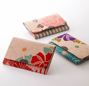 Business Card Holder Retro Flower
