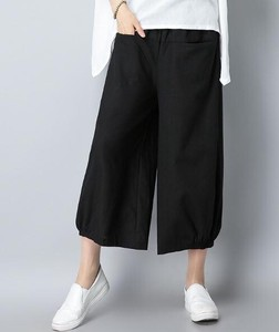 Ladies High-waisted Three-Quarter Length Pants