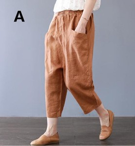 Ladies Plain Three-Quarter Length Pants Pants