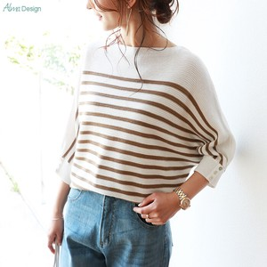 Acrylic Cotton Button Knitted Top