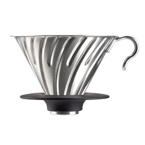 V60 Metal Dripper 02 / Hairline Silver