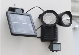 Crime Prevention Countermeasure LED Sensor Light Sun Panel Lighting