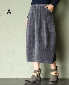 A/W Ladies Leisurely Plain Long Skirt