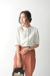 Jacquard Band Color Blouse