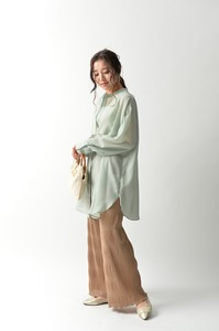 Band Color Tunic Blouse