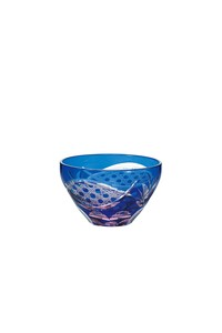 Flower Kiriko Lapis Lazuli China Hand Maid Glass