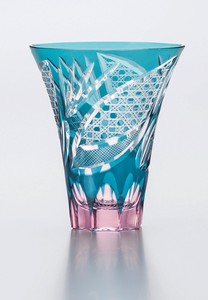 Flower Kiriko Tumbler China Hand Maid Crystal Glass Glass