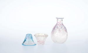 Better Fortune Fuji Fuji Japanese Sake Cup Set Hand Maid Glass