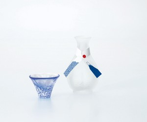 Better Fortune Mt. Fuji Japanese Sake Cup Set Hand Maid Glass