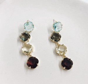 Color Scheme Glass Pierced Earring