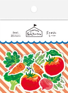 Marche Japanese Paper Sticker Vegetables