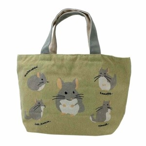 Lunch Tote Chinchilla Fastener Attached Tote