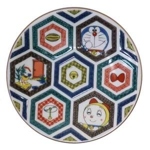 【小皿】ドラえもん 九谷焼 時代画風 古久谷風 亀甲
