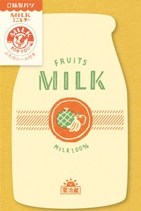 Writing Papers & Envelopes Milk Mini letter Fruit