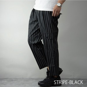 Cargo Pants Men's Stretch Wide Tapered Plain Stripe Pants Chef Pants