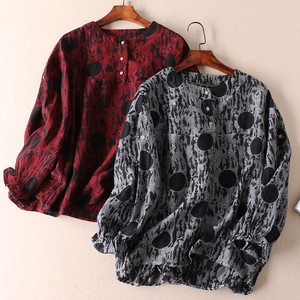 Dot Print Long Sleeve Shirt