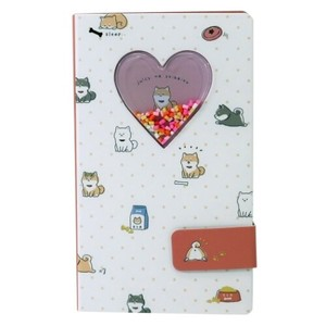 Memo Pad Objects and Ornaments Ornament Dog Smartphone Cover Memo Pad Flake
