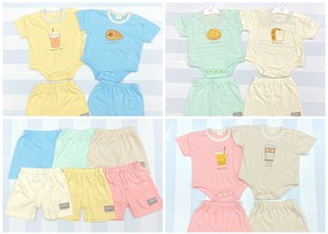 Cafe Series Short Sleeve Rompers Suit Set