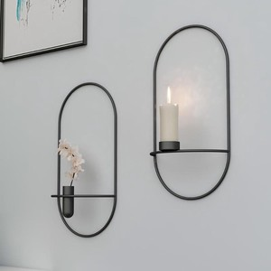 Wall Rack Modern Style Metal Candle Holder Candle Holder Home Accessory