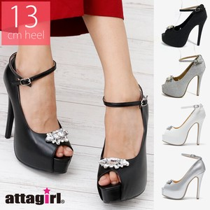 [ 2020NewItem ] High Heel Open Toe Bijou Pumps