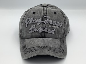 Original Denim Cap Pigment Processing Gray