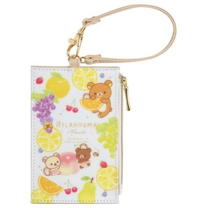 Rilakkuma Coin Attached Case Commuter Pass Holder Fruit Relax