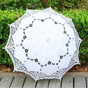 雨傘傘・日傘 日よけ傘 最落無し レース 王女傘 木綿刺繍