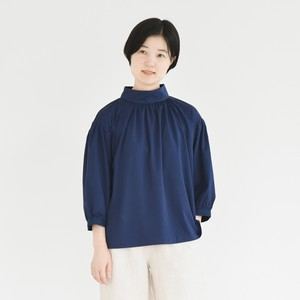 Cotton smooth Roll Color Pullover Blouse