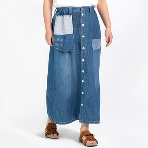 Reservations Orders Items S/S Denim Remake Front Button Long Skirt